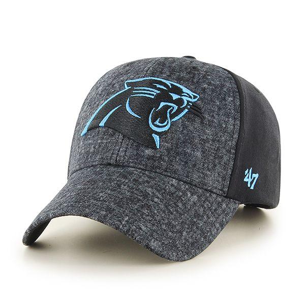 Carolina Panthers Zonda MVP Black 47 Brand Adjustable Hat  687d8a05a