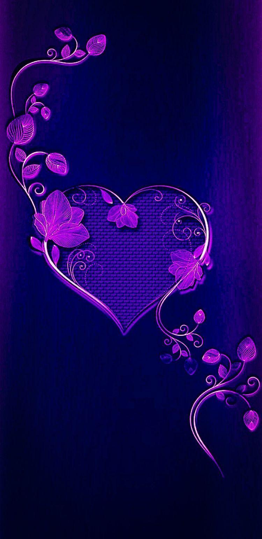 Pin By Shannon Walsh On Cuori Heart Wallpaper Cute Wallpaper For Phone Purple Wallpaper