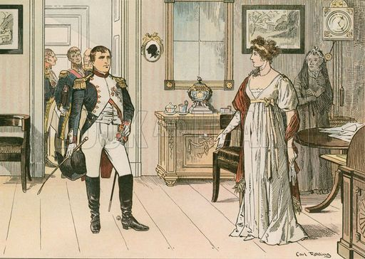 Queen Louise Of Prussia 1776 1810 And Napoleon I 1769 1821 At