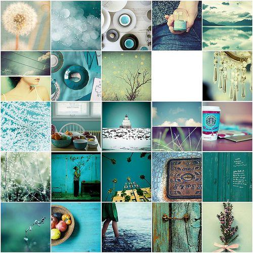 Blautöne Farbpalette: Turquoise & Aqua Tones