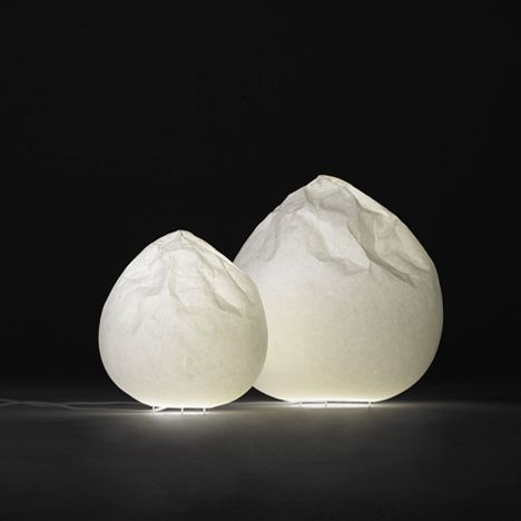 Nendo Adapts Japanese Paper Making To Make Semi Wrinkle Washi Lamps Lampen Gartenkunst Licht