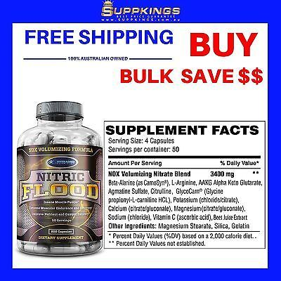 PRE WORKOUT NITRIC OXIDE AGMATINE CAPSULES - 200 CAPS -NUTRACORE