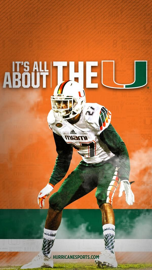 Put Some Swag In Your Smartphone Wallpaper Miami Hurricanes Football Miami Football Hurricanes Football