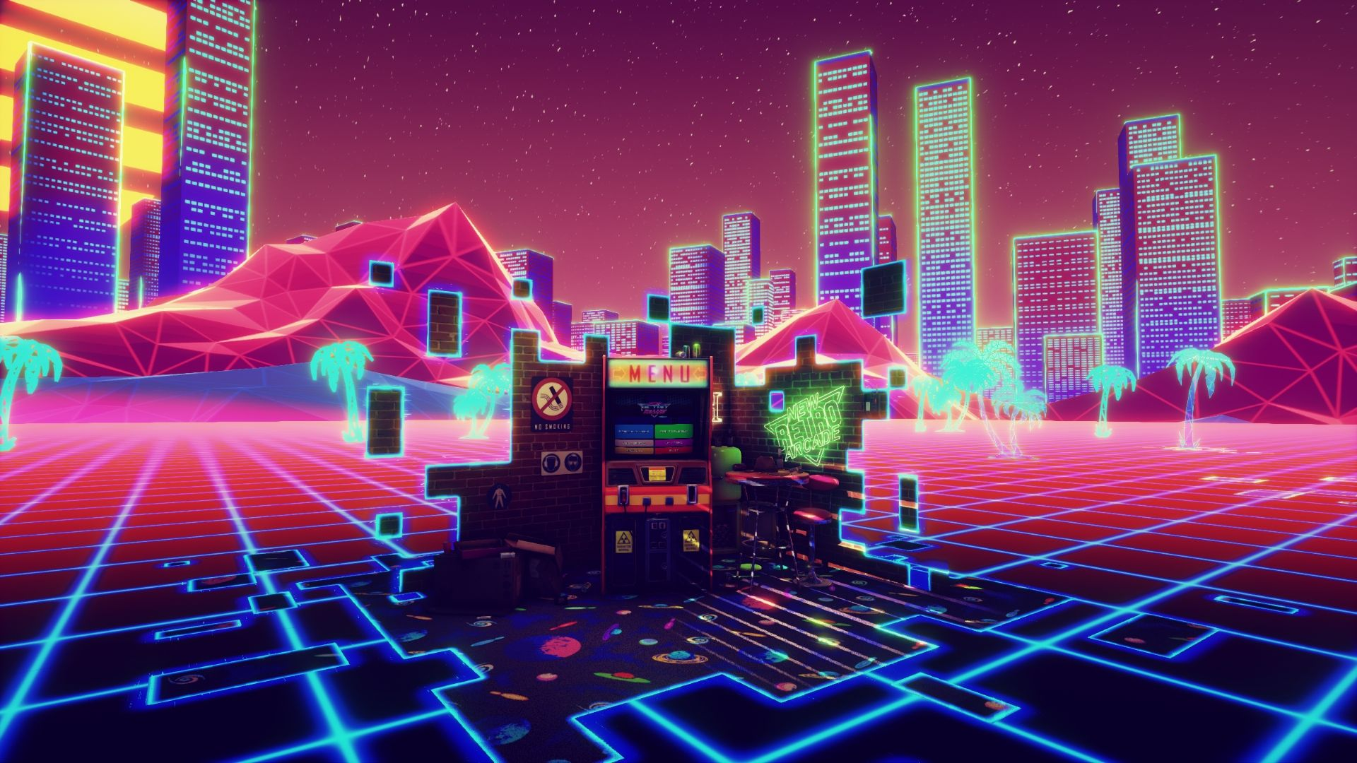 New Retro Arcade Neon PC Game Review Retro arcade