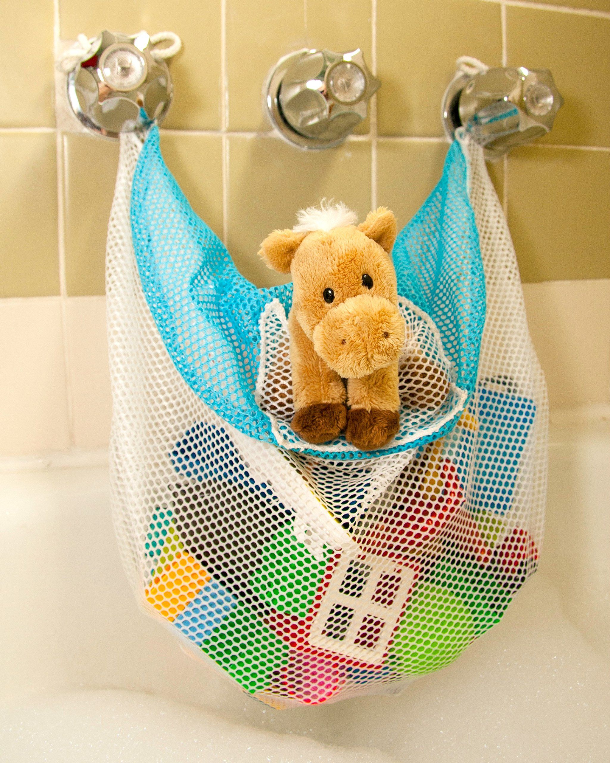 Bath Toy Organizer & Bathtub Toy Bag - The Soapy Saddlebag | New ...