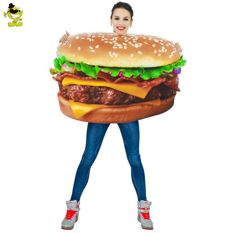 Fast Food Hamburger Adult Costume