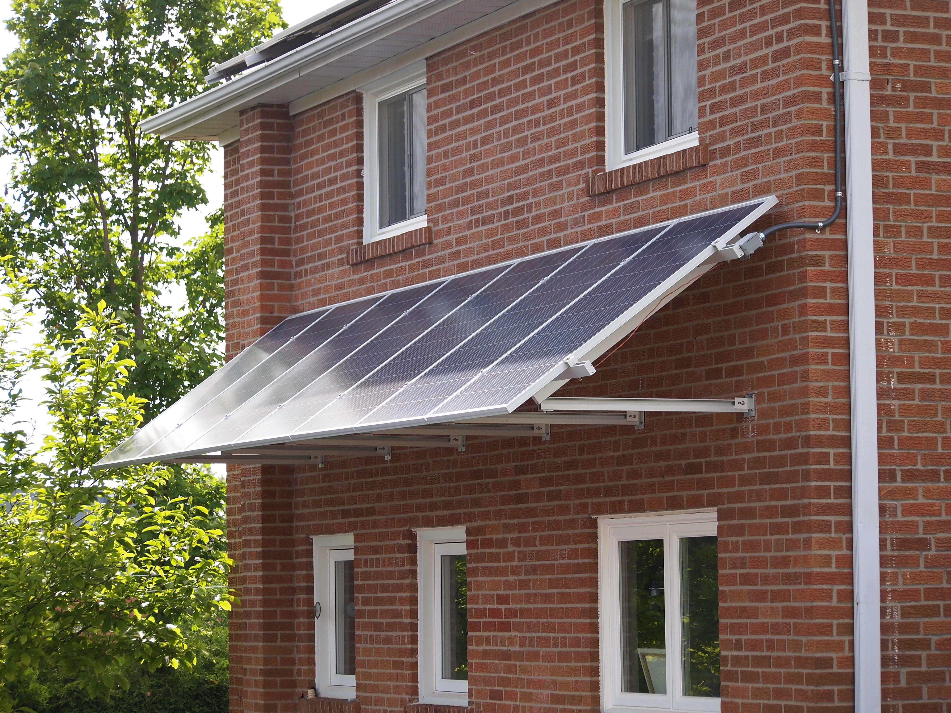 Wall Mounted Window Trellises Solar Panels Outdoor Decor