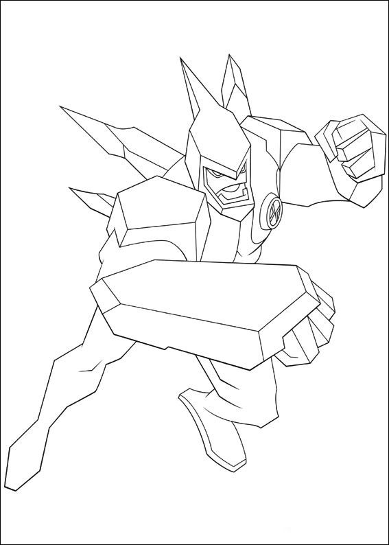 Ben 10 Coloring Pages For Kids Printable Online 7