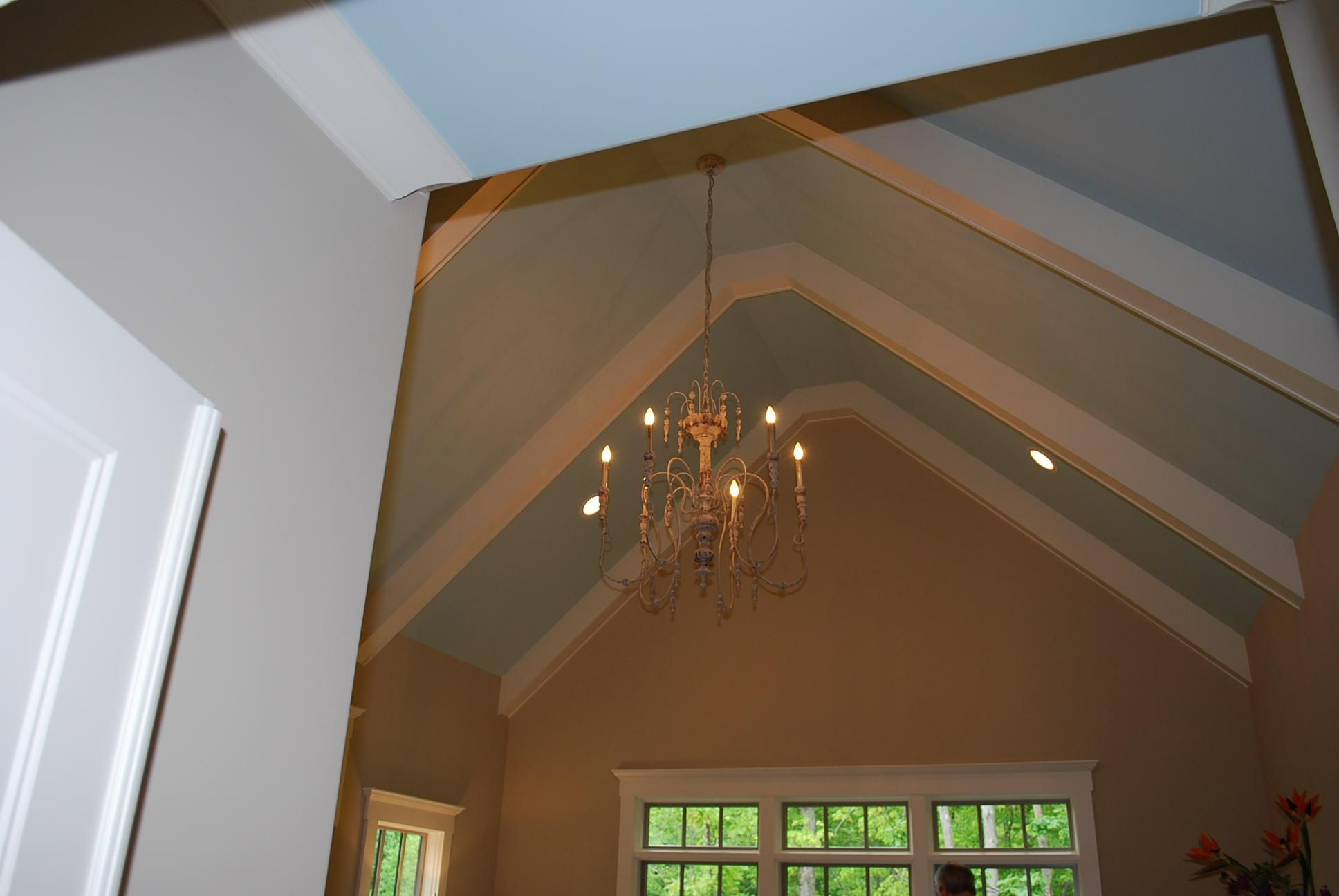 Faux beams cathedral ceiling google search new house for Images of cathedral ceilings