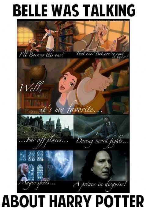 Belle was talking about Harry Potter!