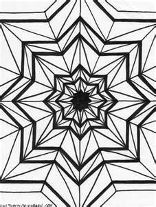 Kaleidoscope Printable Coloring Pages