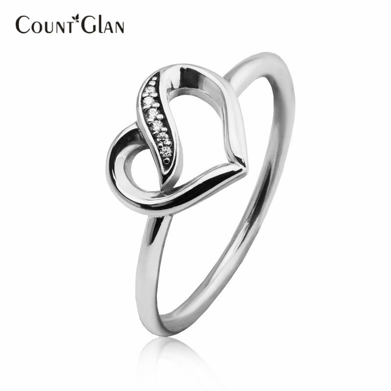 Compatible With Women Ring 2017 New Style Ribbons of Love Silver ...