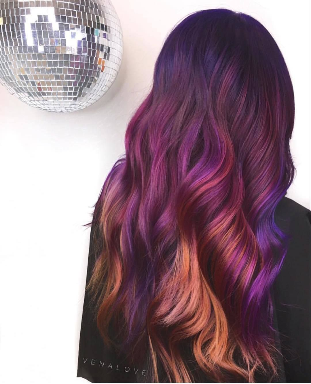 Black and plum ombre hair Black Hair in Pinterest Ombre