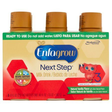 Enfagrow Toddler Next Step Vanilla Milk Ready-to-Drink Milk Drink, 8 fl oz bottles, 6pk (Pack of 4)