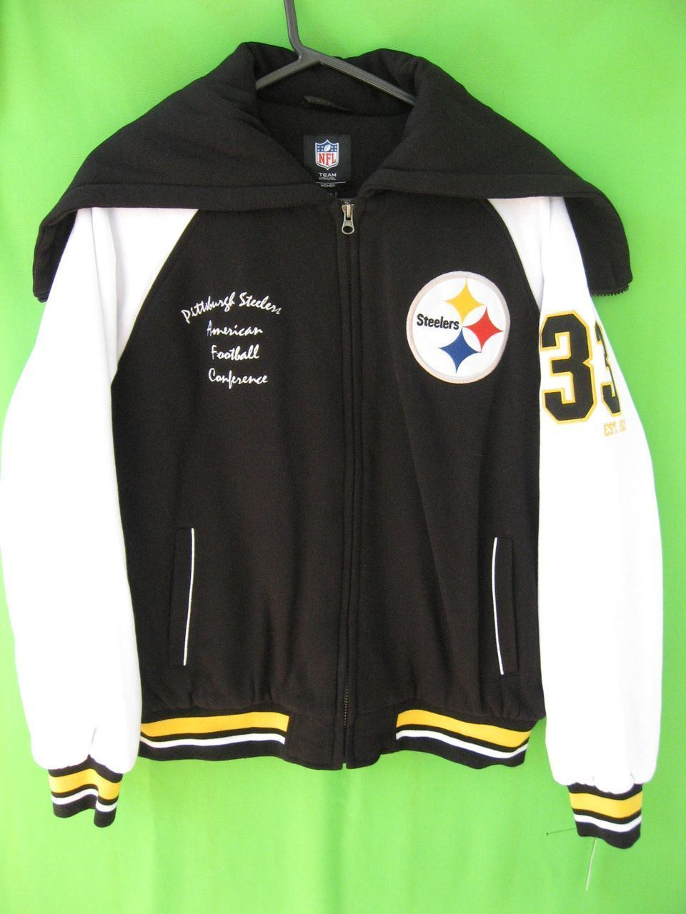 pretty nice da61e eb39d NEW WITH TAG NFL ~ PITTSBURGH STEELERS WOMENS CHEER JACKET ...