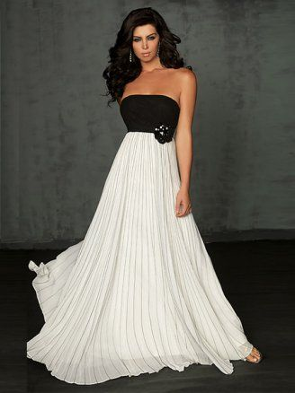 Black And White evening dress | Pretty Black And White