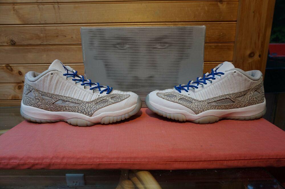 b552e0eca5bdce 2003 Nike Air Jordan 11 Retro Low White Cobalt Zen Grey Sz 11.5  (0381)306008-142