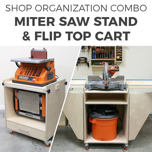 Mobile Miter Saw Stand  U0026 Flip Top 2