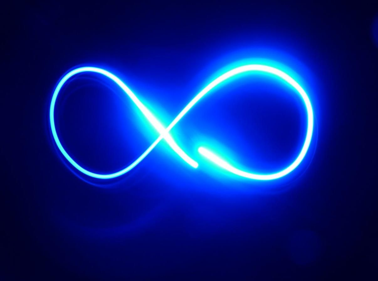 Simbolo Infinito No Ceu 4k Hd Wallpaper Infinity Sign Infinity Wallpaper Neon Signs