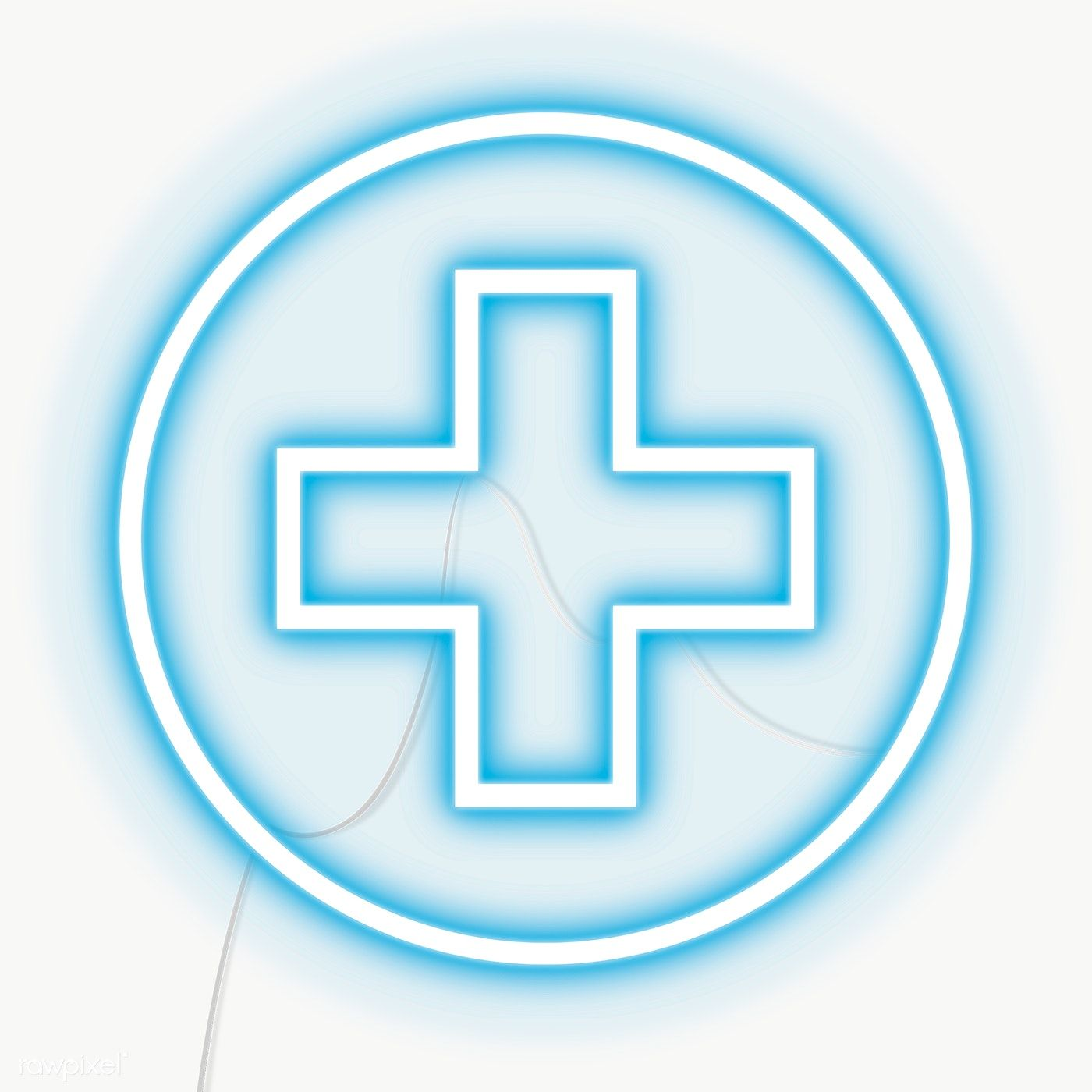 Blue Cross Neon Sign Transparent Png Free Image By Rawpixel Com Chayanit