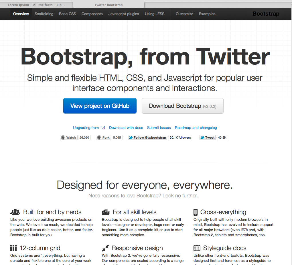 Bootstrap from twitter simple and flexible htmlcss and simple and flexible htmlcss and javascript framework malvernweather Gallery
