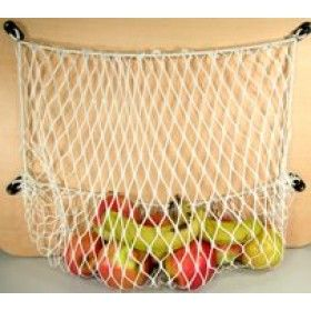 Webbing net lockers. Sold by boat shops, but they'd be just perfect around home. A$15 each!