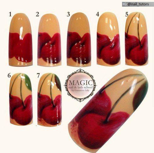дизайн ногтей фрукты пошагово с фото