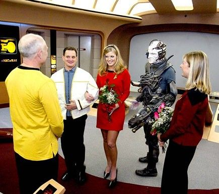 A Star Trek Wedding In Vegas I Don T Think D Go This Far But It S One Take On The Color Scheme Like
