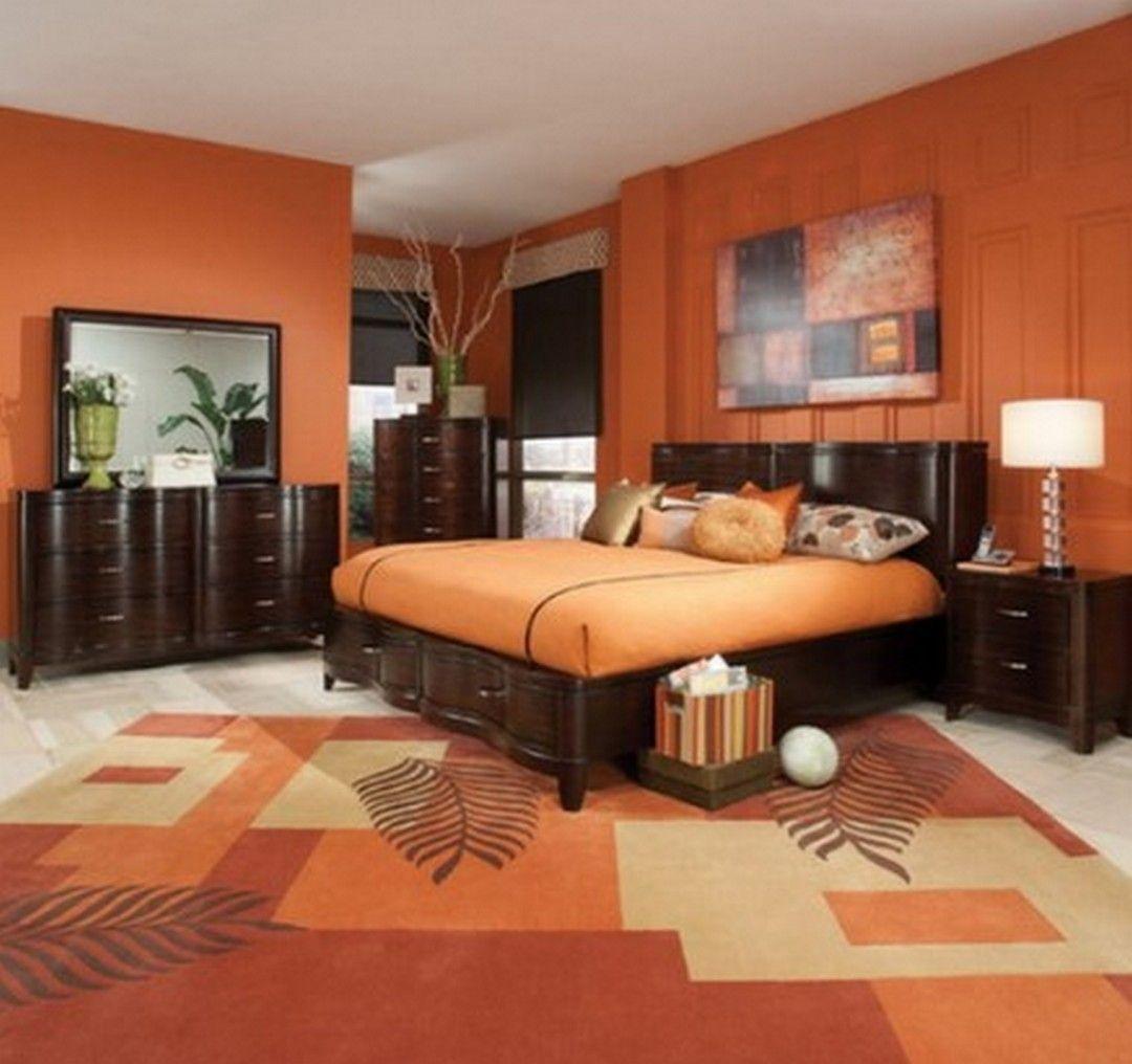 8 Light Orange Home Design Ideas  Orange bedroom walls, Bedroom
