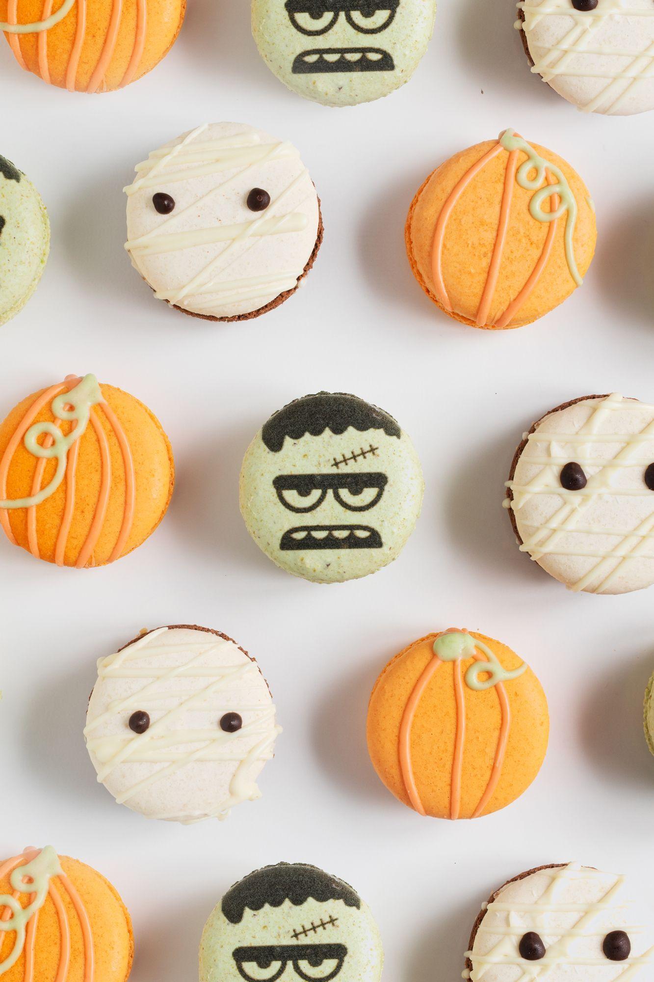 Halloween Macarons #halloweenmacarons Halloween Macarons #halloweenmacarons