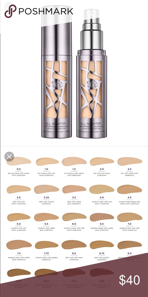All Shades Of Kylie Lip Kits: Urban Decay All Nighter Foundation New, Only Used Once