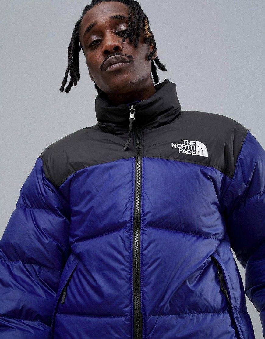The North Face 1996 Retro Nuptse Jacket In Blue Blue Modesens Jackets The North Face North Face Mens
