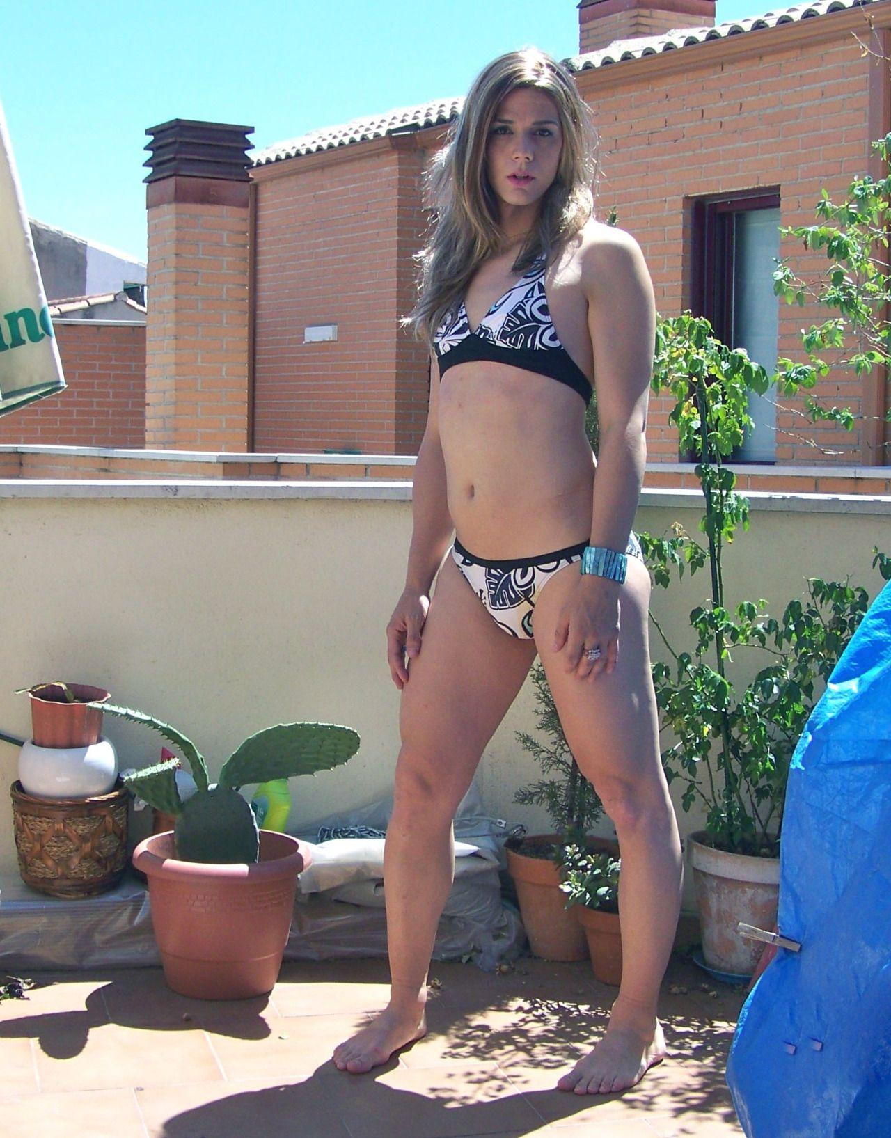 a Transvestite bikini wearing