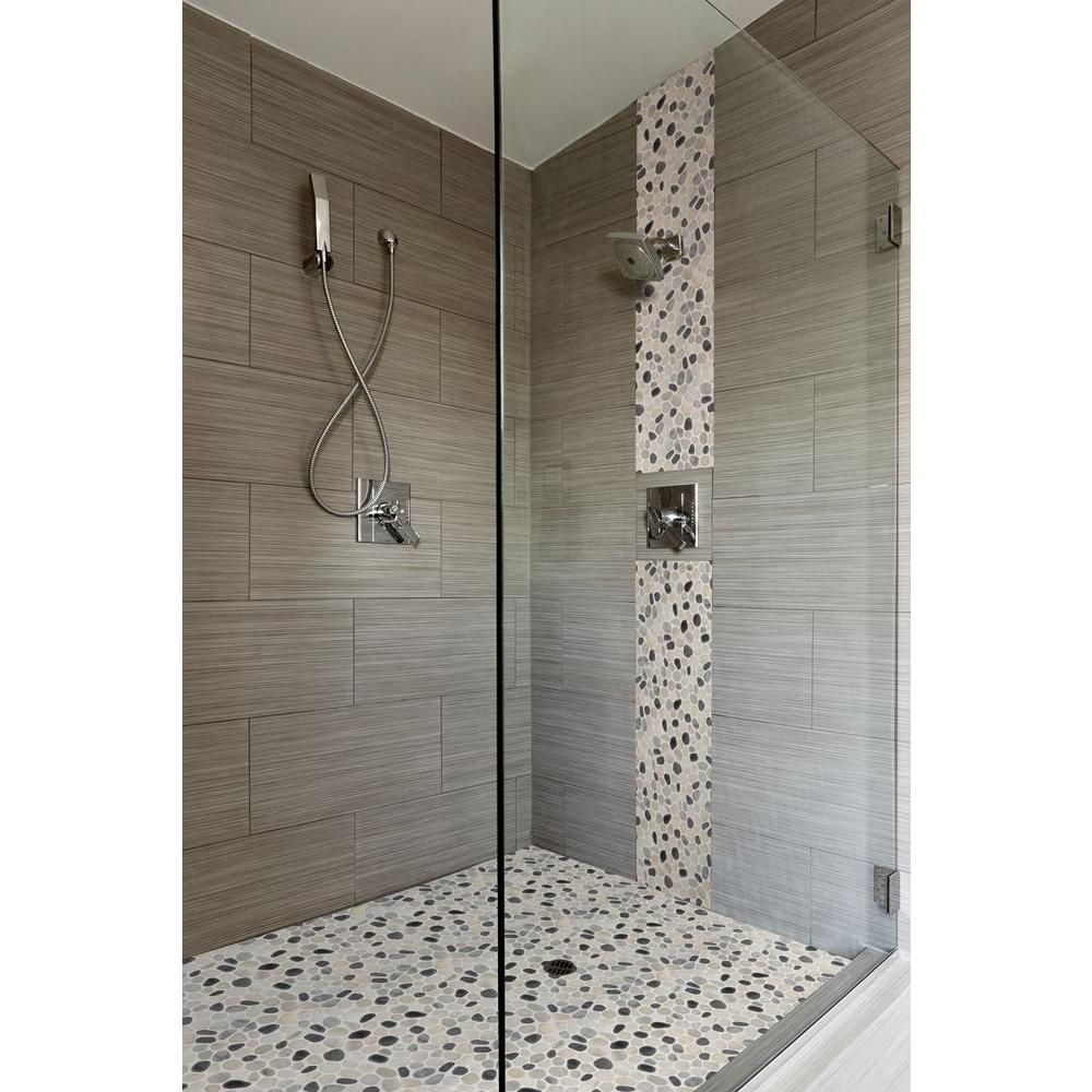ms international metro charcoal 12 in. x 24 in. glazed porcelain