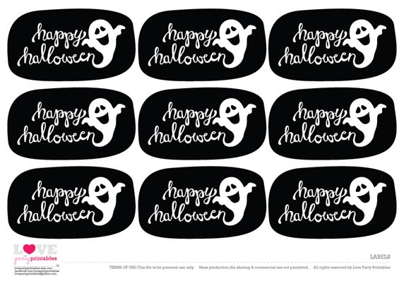 FREE Halloween Party Printables from Love Party Printables ...