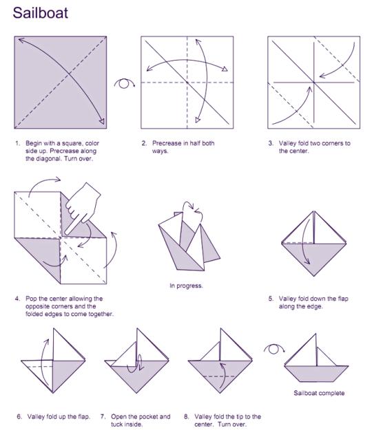 sailboat origami tom sawyer pinterest origami