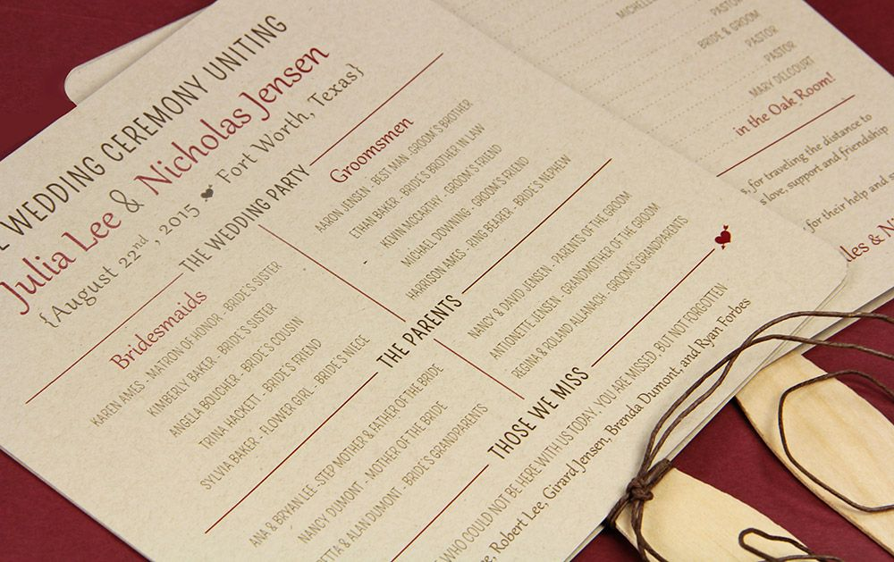 17 Best images about Make Your Own Wedding Programs on Pinterest ...