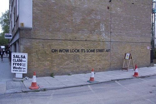 UK Street Artist Uses SarcasmLaced Sentences In His Works - Sarcastic witty street art mobstr