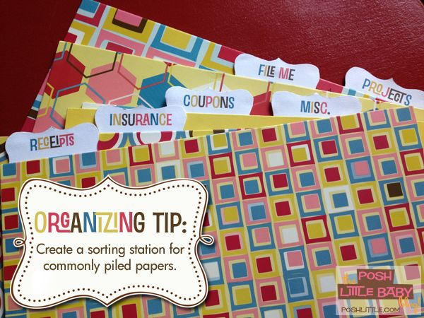 Organizing Tip\/Free Printable Create a sorting station for - create receipts free