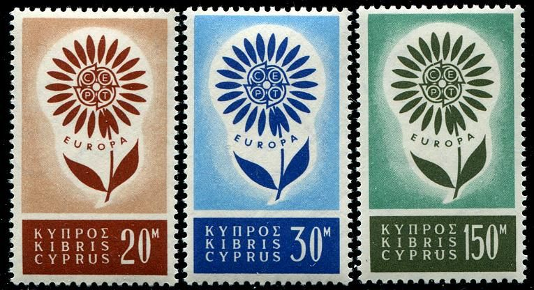 Cyprus Stamps Sc. 24446 Europa 1964 Stamp, Rare