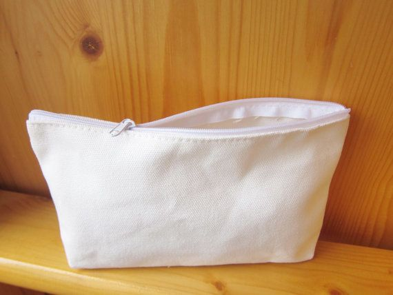 DIY White Pencil Small Bag, Decoupage, fabric marker, blank own ...