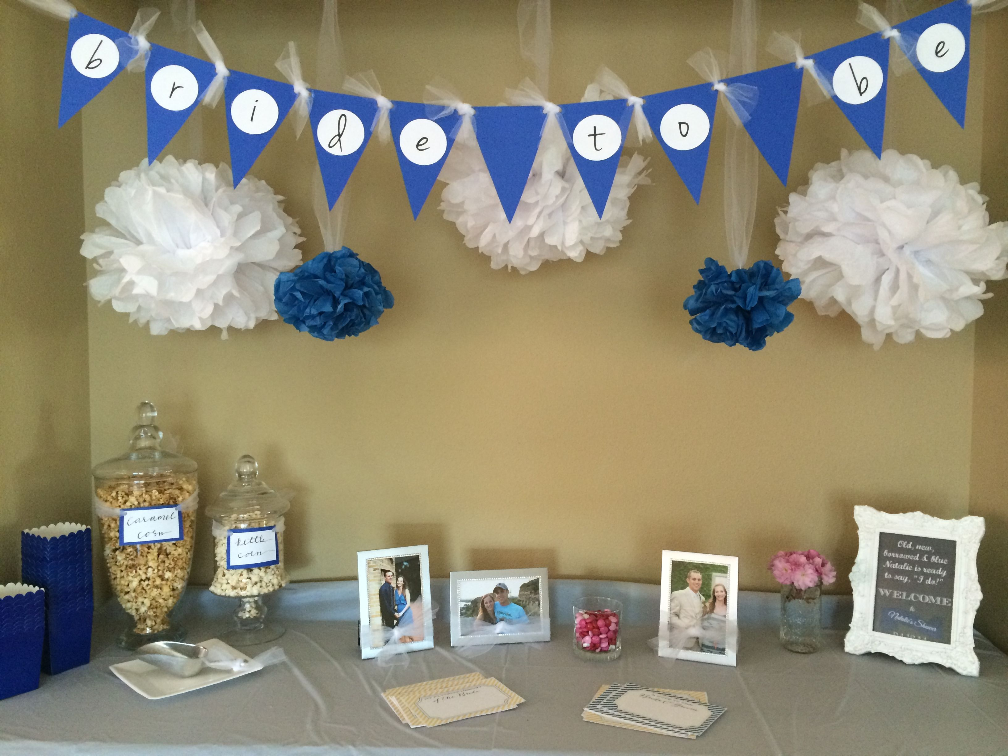 cute something blue bridal shower from swimmingsidewayscom