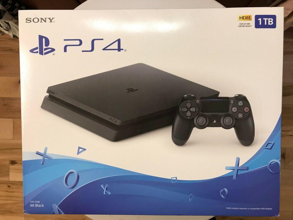 Sony Playstation 4 Slim 1tb Gaming Console Black Cuh 2115b Ps4 Gaming Video Playstation Ps4 Game Console Sony