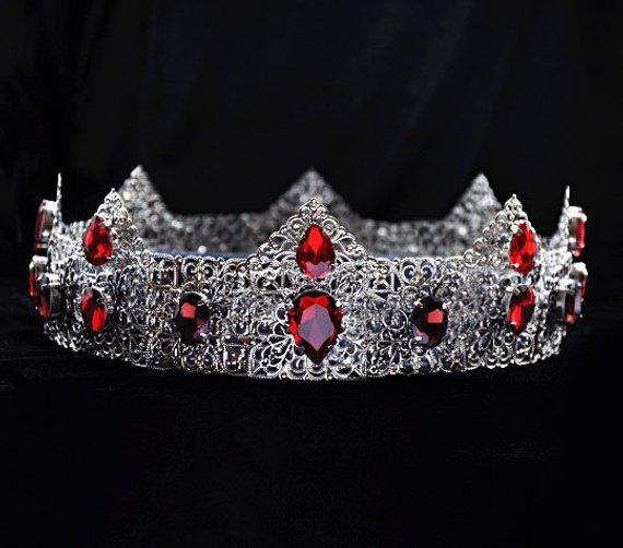 0727f5000f4 Silver King Crown, Medieval Crown, King Crown, Mens crown, Crown ...