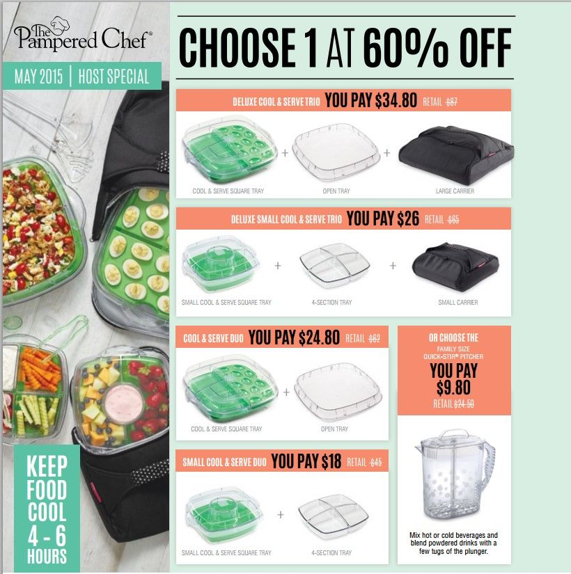 May 2015 Host Special Pampered Chef Cooking Show Chef