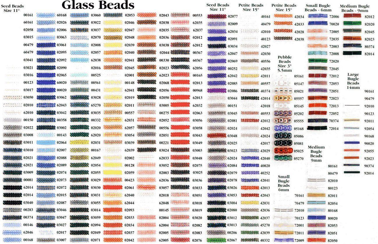 Bead Color Chart Bing Images Bead Chartsdiagrams Size
