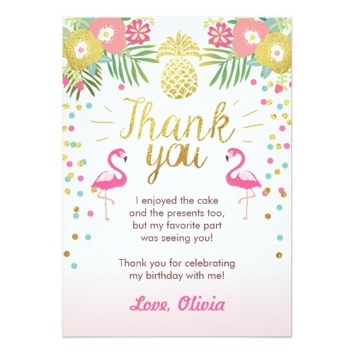 21st birthday thank you cards