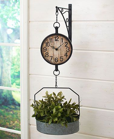 Wall-Mounted Farmhouse Clock  Decorative Accents, Tabletop Decor & Home Accents LTD Commodities  #clock #Farmhouse #WallMounted