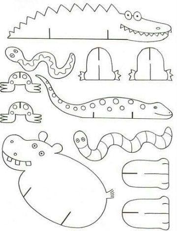 dibujos de animales de la selva para imprimir | animales de encastres