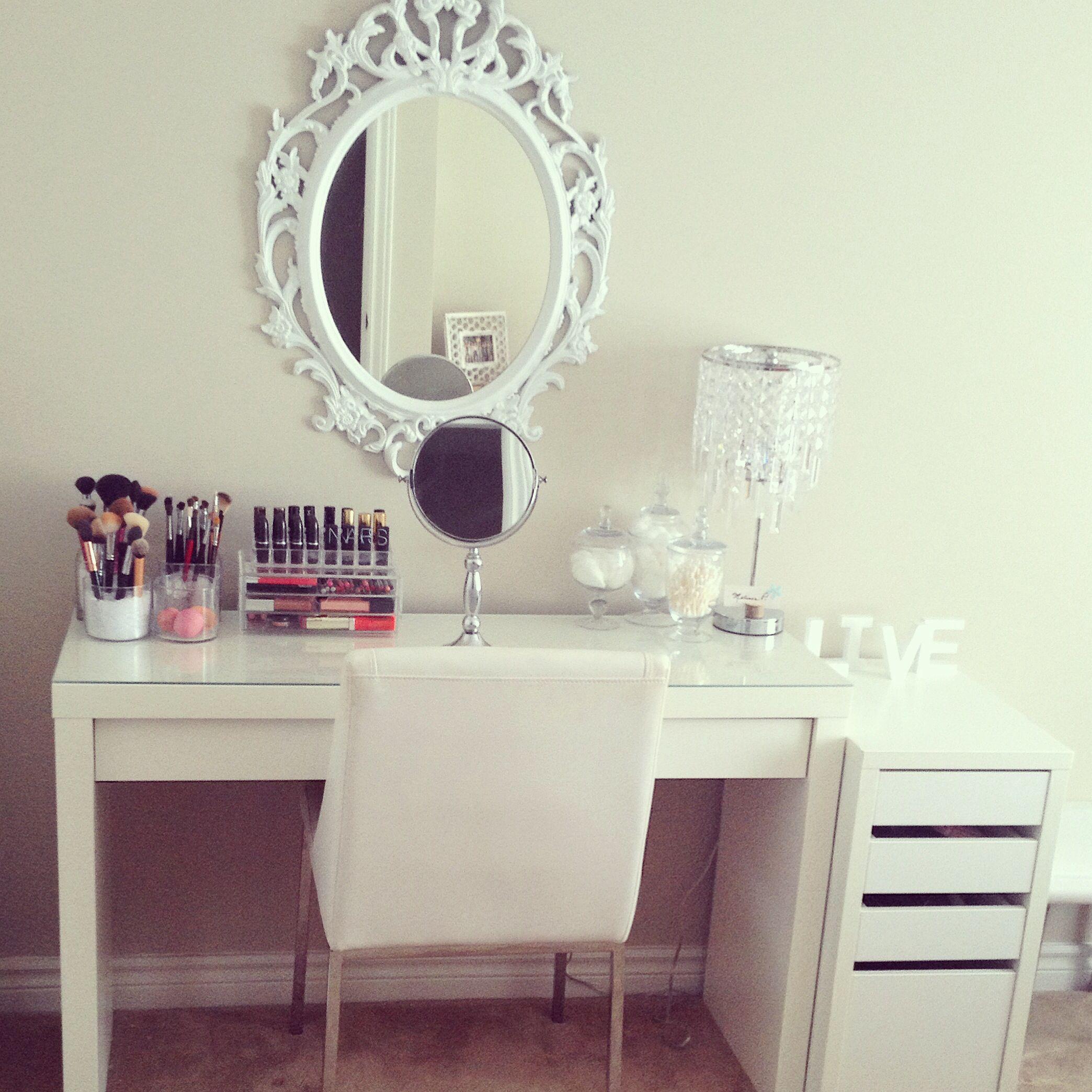 Beautiful Makeup Desk organizer Ikea